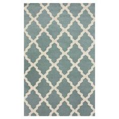 """Anchor your living room or define a space in your master suite with this hand-hooked wool rug, showcasing a trellis motif in spa blue.  Product: RugConstruction Material: WoolColor: Spa blueFeatures: Hand-hookedPile Height: 0.25"""" Note: Please be aware that actual colors may vary from those shown on your screen. Accent rugs may also not show the entire pattern that the corresponding area rugs have.Cleaning and Care: These rugs can be spot treated with a mild detergent and water. Professional…"""