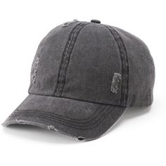 fcc21349e75 Women s Mudd® Distressed Baseball Cap ( 12) ❤ liked on Polyvore featuring  accessories