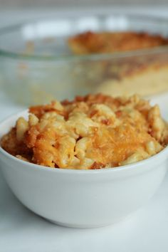 Baked Mac-and-Cheese with Havarti, Sharp Cheddar and Parmesan!