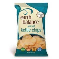 The new Earth Balance Kettle Chips are totally vegan and non-gmo. Did we mention they're made with USA grown potatoes? Vegan never tasted so good.