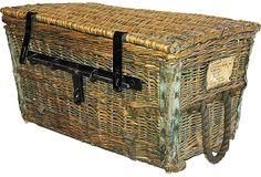19th-C. French Country Wicker Trunk on OneKingsLane.com
