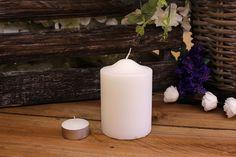 Κεριά Κυλινδρικά Λευκά Φ7x10εκ Pillar Candles, Taper Candles