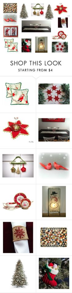 """""""Christmas Decor"""" by einder ❤ liked on Polyvore featuring interior, interiors, interior design, home, home decor, interior decorating, Frontgate and vintage"""