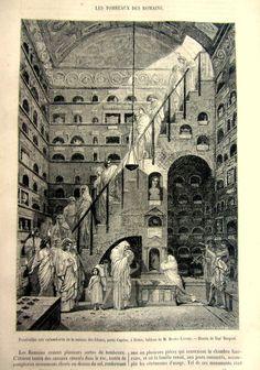 Amazing antique Roman columbarium tombs by LyraNebulaPrints, $22.00