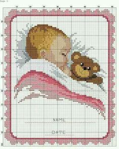 Lovely idea for a new baby girl or, with the pink detail changed to blue, a new baby boy
