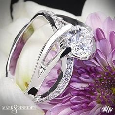 The Mark Schneider Kismet Diamond Engagement Ring brings life to the idea of divine will.