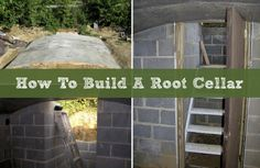 Building A Root Cellar With A Trashcan · How To Build A Root Cellar Off The Grid, Homestead Survival, Survival Skills, Survival Tips, Root Cellar Plans, Best Survival Food, Food Storage Shelves, Underground Shelter, Living Off The Land