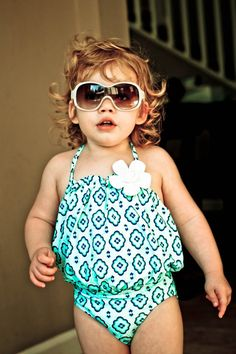 Pinning my own kid because she is fabulous rocking her Janie and Jack swimsuit. :)