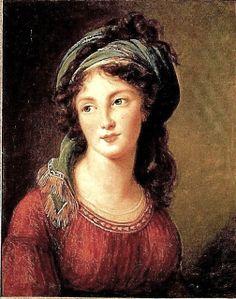Louise-Elisabeth Vigée-Lebrun (French artist, 1755-1842) Portrait d'Aglaé de Gramont née de Polignac, duchesse de Guiche