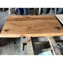 Eiche Rustikal Spezial Wurmstichig Massivholz Tischplatte 120 X
