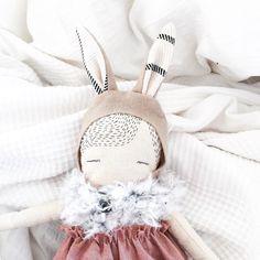 Bunny 'Mercy' handmade cloth doll puppadolls poppy by poppyandowl