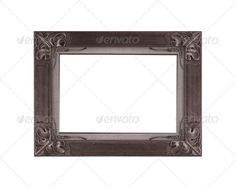 Old vintage frame isolated on white background 2