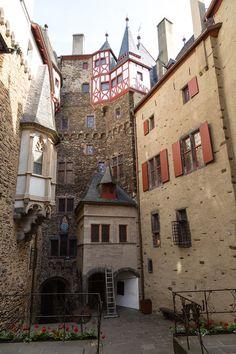 Eltz Castle, Germany - it's inner courtyard.