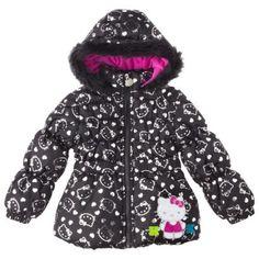 Hello+Kitty+Toddler+Girls'+Heavyweight+Faux+Fur+Puffer+Jacket