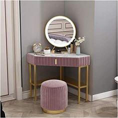 Dressing Table Colour, Corner Dressing Table, Dressing Table Modern, Makeup Dressing Table, Dressing Table For Girls, Bedroom Vanity Set, Vanity Table Set, Bedroom Corner, Small Room Bedroom