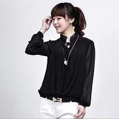 Chiffon Shirt - 2 colors - USD $ 15.59