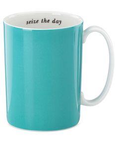 kate spade new york Mug, Seize the Day Turquoise - Glassware - Dining & Entertaining - Macys