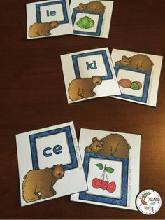 Spanish Syllable Word Work Stations