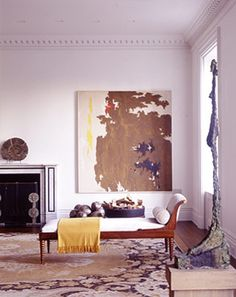 Stephen Sills Associates art by Clyfford Still and Alberto Giacometti Room Inspiration, Interior Inspiration, Interior Architecture, Interior And Exterior, Chinoiserie, Deco Paris, Villa, Interiores Design, Decoration