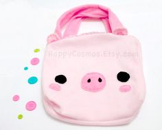 Pig Tote Bag Cute Backpack Kawaii Schoolbag by HappyCosmos