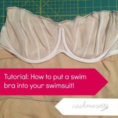 How to put a swim bra into your swimsuit | Cashmerette