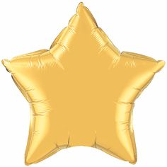 Balão Estrela dourada ouro Qualatex - Estilo e festas