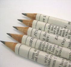 Set Of Five Shakespeare Pencils