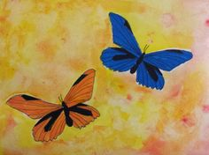 Angela Anderson Art Blog: Butterfly Watercolor Paintings - Kids' Art Class