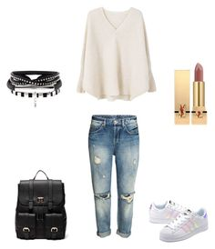 """Sin título #5"" by camila-radino on Polyvore featuring moda, MANGO, adidas Originals, Sole Society y Yves Saint Laurent"