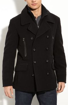 """March New York Webster Peacoat. Quite possibly an end to a ceaseless search for a well fitting go-to peacoat for a guy who's 5' 8"""" and muscular. Medium (I tried it on)."""