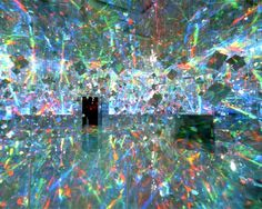 Installation; Hiro Yamagata Ace Gallery NYC, 2001 ♡ cool, but would probably make your head spin.