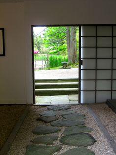 Japanese tea house entry