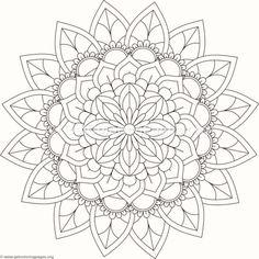 Tribal Mandala Coloring Pages #385