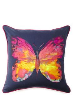 Butterfly Printed Cushion