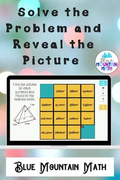 Are you looking for an interactive and self-correcting resource to practice finding the volume of pyramids with your students? There are 2 different pictures with 16 problems for each picture. Students start with the picture totally covered by the answer boxes. As they answer each question correctly, more and more of the covered picture is revealed.