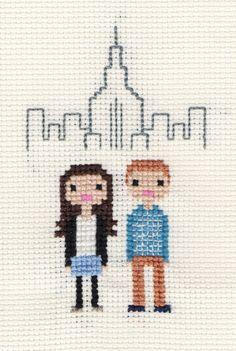 Location / New Home Custom Pixel Cross Stitch by ScarletPyjamas, £28.00