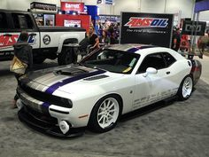 """The famed """"Rapture"""" Dodge Challenger Scat Pack, designed by Murray Pfaff and executed by Downforce Motorsports. It is powered by the 392 Hemi V8 equipped with Kooks headers and Magnaflow exhaust. It rides on an Airlift suspension and Nitto NT05 tires mounted to Forgeline RB3C wheels with a very custom finish. See more at: http://www.forgeline.com/customer_gallery_view.php?cvk=1210  #Forgeline #RB3C #notjustanotherprettywheel #dodge #challenger #rapture"""