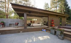 Dale Hubbard Surround Architecture: Folly Farm a Modern/Traditional Hybrid Meets Indoor-Outdoor Living
