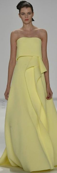 Carolina Herrera RTW Spring 2015 jaglady This is the dress Jenna Dewan Tatum wore the 2015 Golden Globes,
