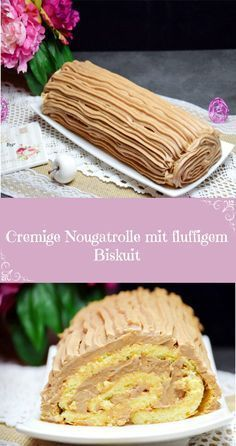 Cremige Nougatrolle mit fluffigem Biskuit