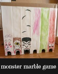 MONSTER marble game - A Mom With A Lesson Plan