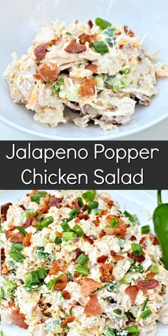 Salad Recipes Low Carb, Low Carb Chicken Recipes, Chicken Salad Recipes, Cooking Recipes, Healthy Recipes, Salad Chicken, Low Carb Chicken Salad, Jalapeno Chicken Salad Recipe, Healthy Chicken Salads