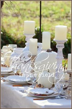 Thanksgiving In The Field- lots of inspiration for Thanksgiving tables.