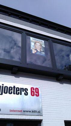 In Roermond, op grote hoogte.