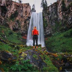 Tumalo Falls outside Bend, Oregon ------------------------------ : @ findmeoutside    #visitcentraloregon #waterfall #pnwonderland #travel