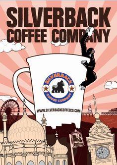 Wake up Brighton Coffee London, Coffee Company, Poster Designs, Advertising Poster, My Coffee, Brighton, Giclee Print, Packaging, Branding