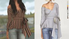 Galore Wrapped Blouse for The Sims 4 by Volatile Sims