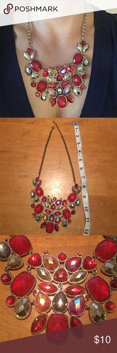 Red statement necklace Red statement necklace from Macy's Macy's Jewelry Necklaces