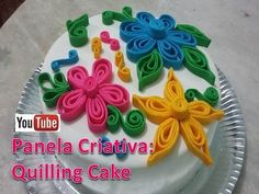 Técnica Quilling em pasta americana/Quilling cake - YouTube