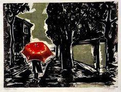 Oswaldo Goeldi, Chuva, xilogravura, 1957, Coleção Maurício Fleury Buck